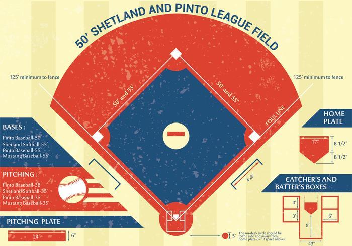 Honkbalpark Infographic Vector Design
