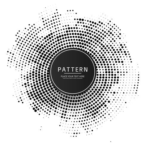Modern circular halftone background vector
