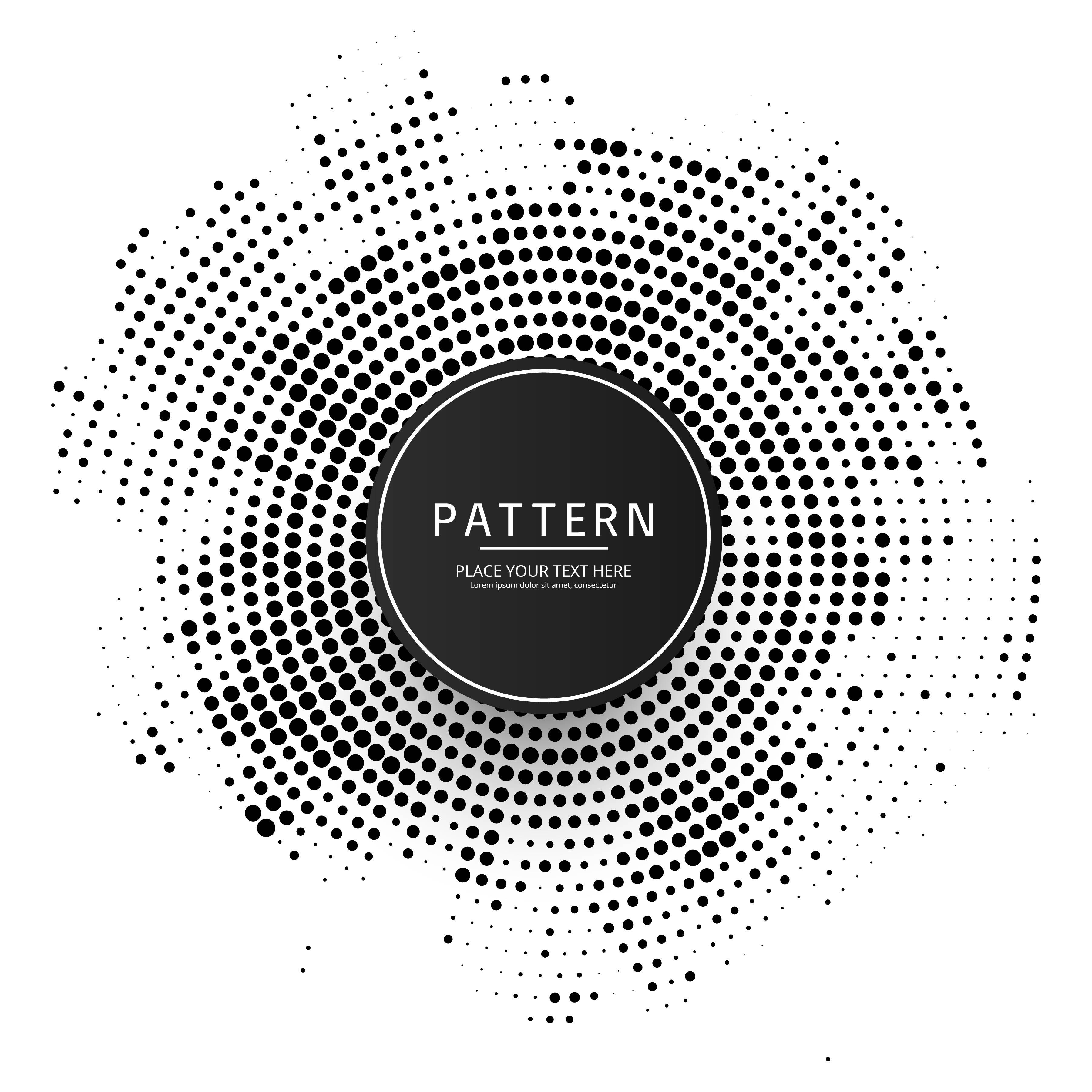 Blue Circular Logo: Modern Circular Halftone Background