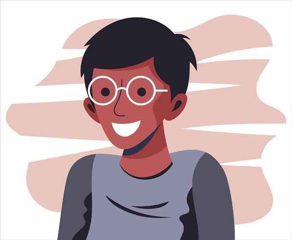 Menino com óculos