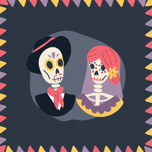 Day of the Dead Couple vector