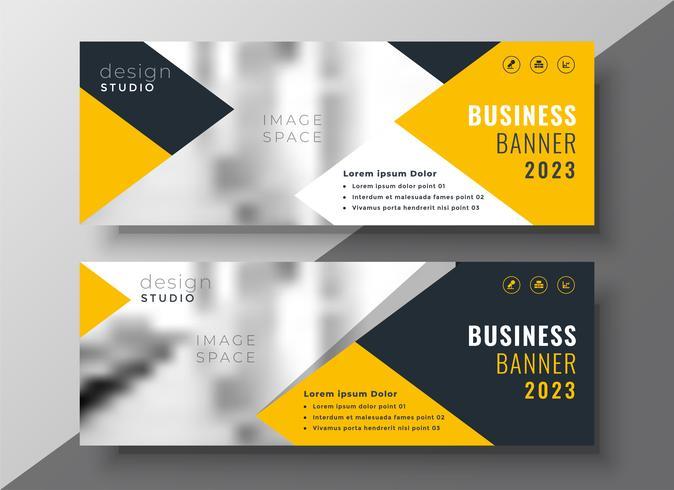 modèle de bannière créative entreprise jaune