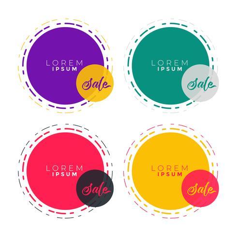 abstrakt cirkel banner etikett med text utrymme
