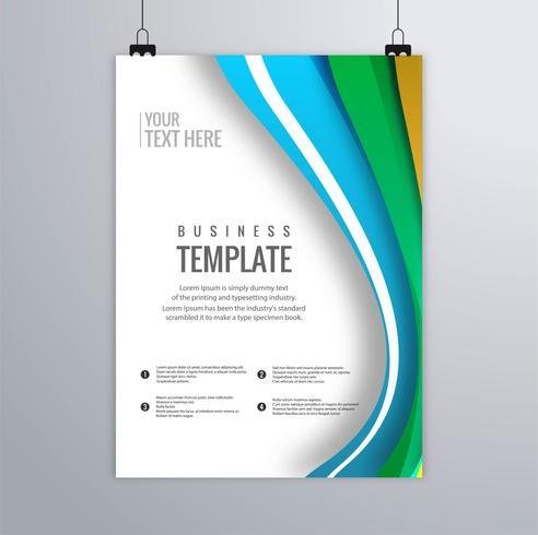 Design de brochure d'entreprise ondulé coloré abstrait