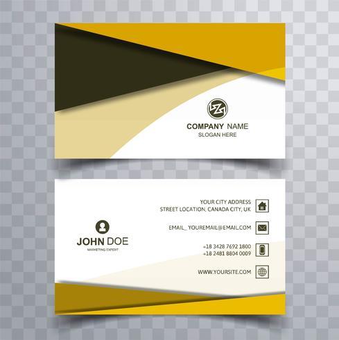 Design de modèle de carte de visite coloré moderne