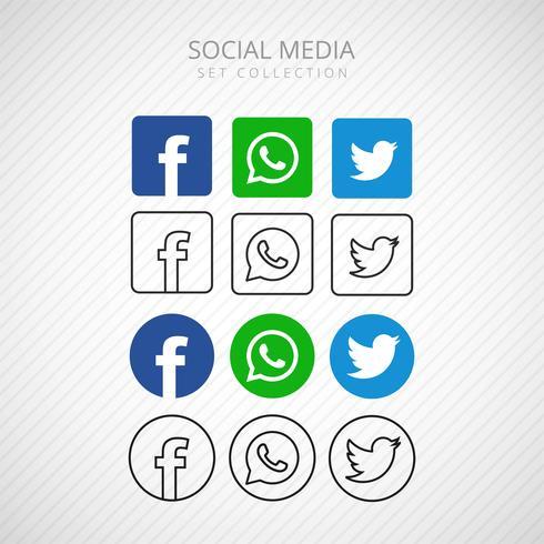 Socila abstraite médias icônes set design