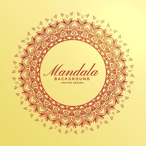 prachtige Indiase mandala decoratie achtergrond