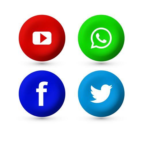 Design de ícone de mídia social linda cenografia