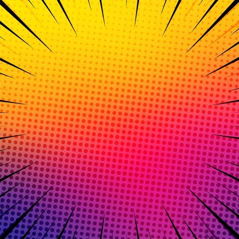 Beautiful colorful comic book background illustration