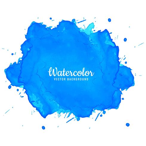 Het elegante blauwe ontwerp van de waterverfinkt