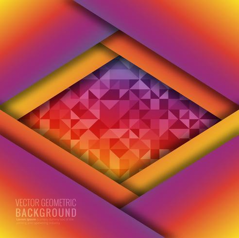 Moderne kleurrijke geometrische platte ontwerp vector