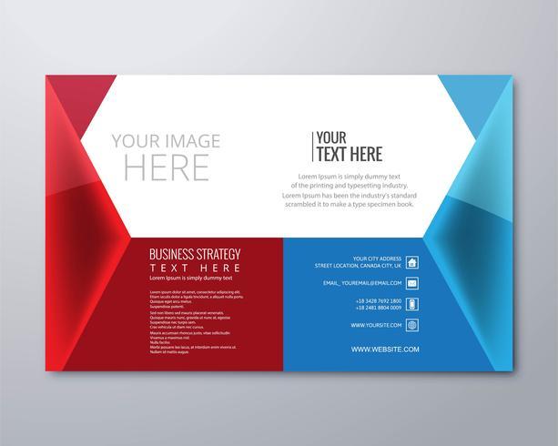Creatieve kleurrijke zakelijke brochure sjabloon