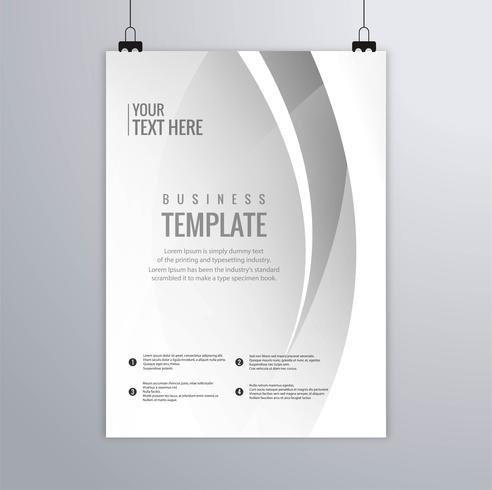 Moderne grijze golvende de brochurevector van het bedrijfsmalplaatje