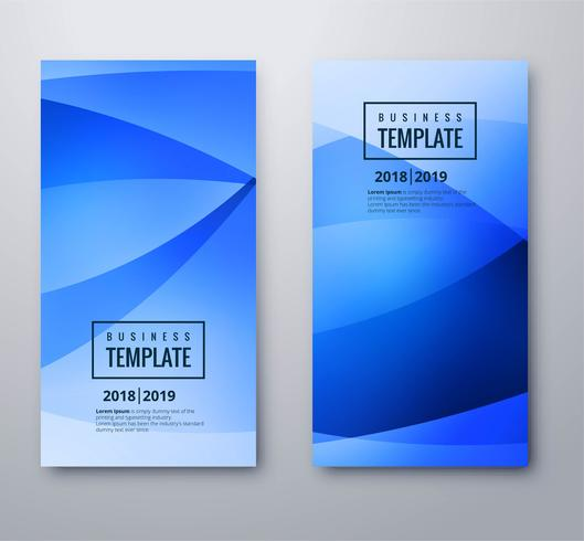 Abstracte blauwe golfbanners geplaatst ontwerp