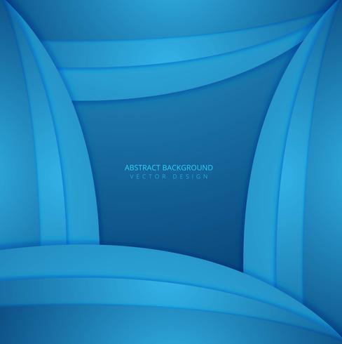 Fond ondulé créatif bleu élégant