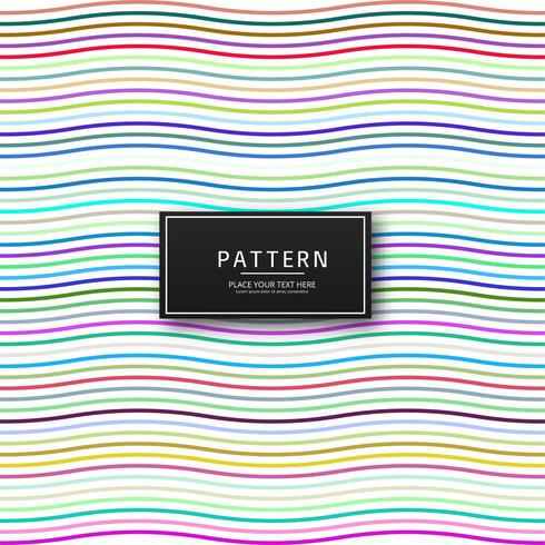 Elegant colorful lines pattern background