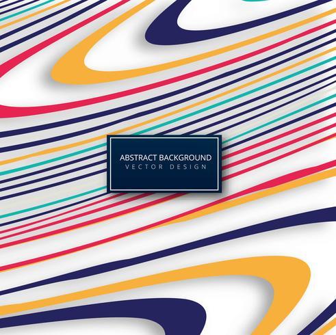 Elegant colorful lines background illustration vector