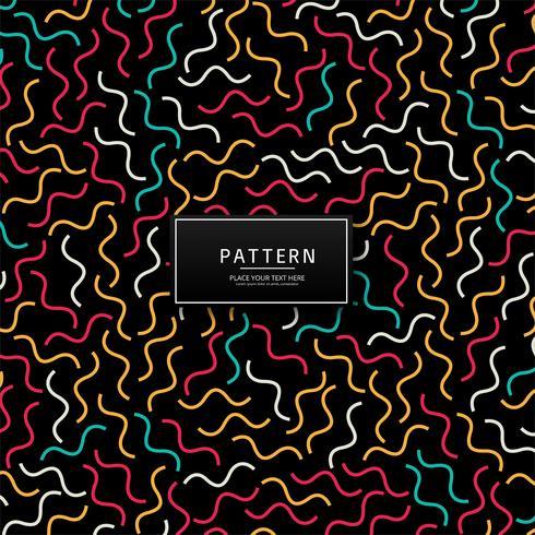 Abstrakt färgrik geometrisk linjemönster design