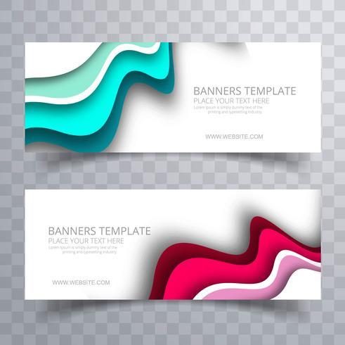 Modèle d'entreprise de bannières ondulées colorées modernes