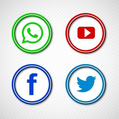 Abstrakte glänzende Social Media-Ikonen Bühnenbild
