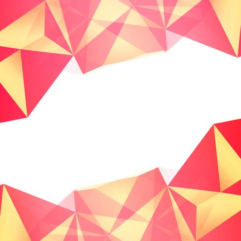 Abstract colorful polygon background vector