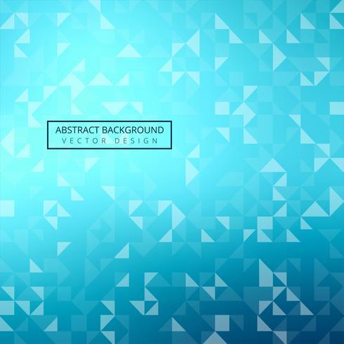 Vecteur de fond géométrique triangle bleu vif moderne