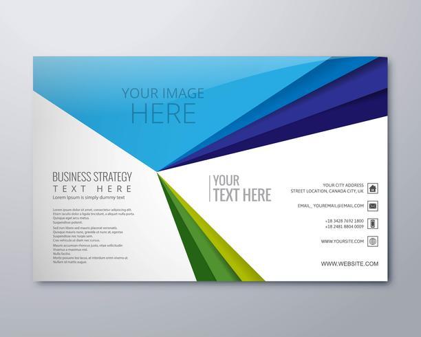 Abstrait créatif business brochure template vecteur