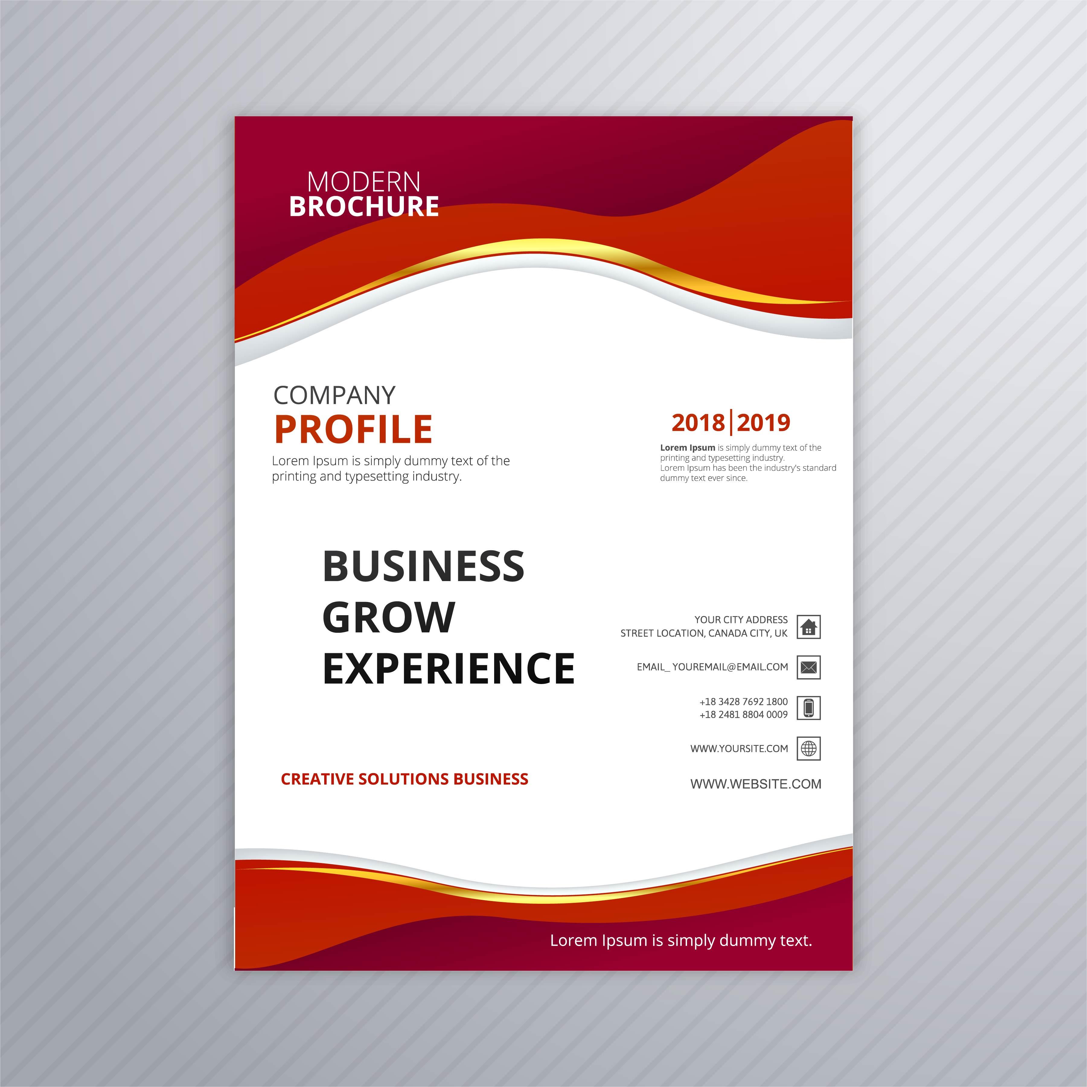 modern business brochure colorful template design