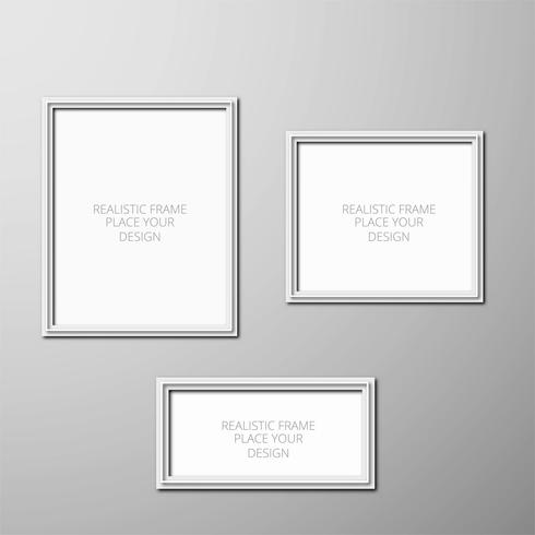 Realistic photo frame template design