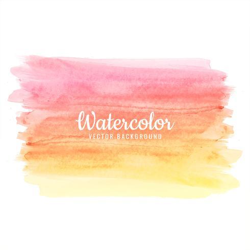 De hand trekt het kleurrijke vectorontwerp van de waterverfslag