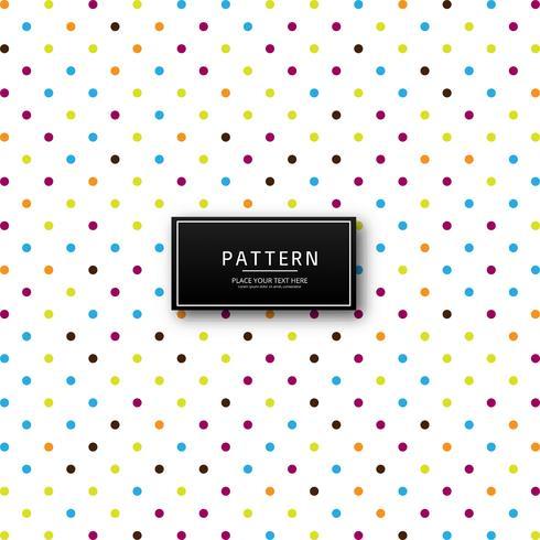 Motif en pointillé coloré moderne
