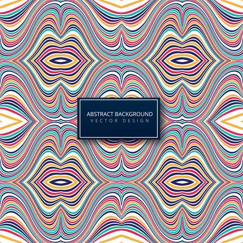 Abstracte kleurrijke stijlvolle lijnen Golf achtergrond vector