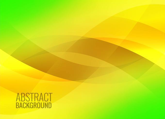 Abstrakt grön färgrik vågig bakgrund