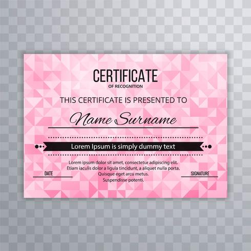 Abstract geometric certificate template background