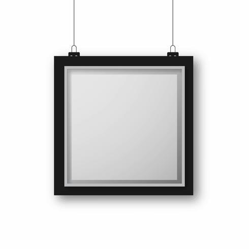 Vecteur de fond de cadre photo élégant
