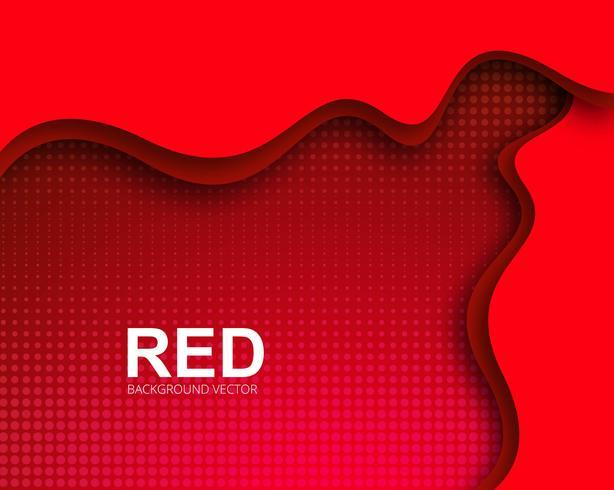 Elegante creatieve stijlvolle rode golvende achtergrond