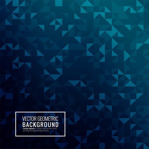 Blue triangle geometric beautiful background