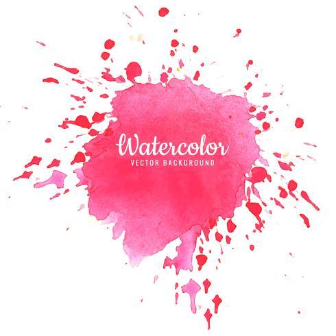 Abstrakt rosa vattenfärg stänk design
