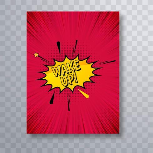 Vacker tecknadbok broschyr mall design vektor