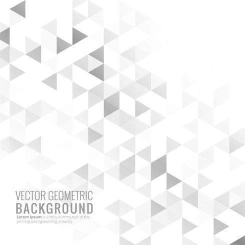 Grå ljus geometrisk bakgrund vektor
