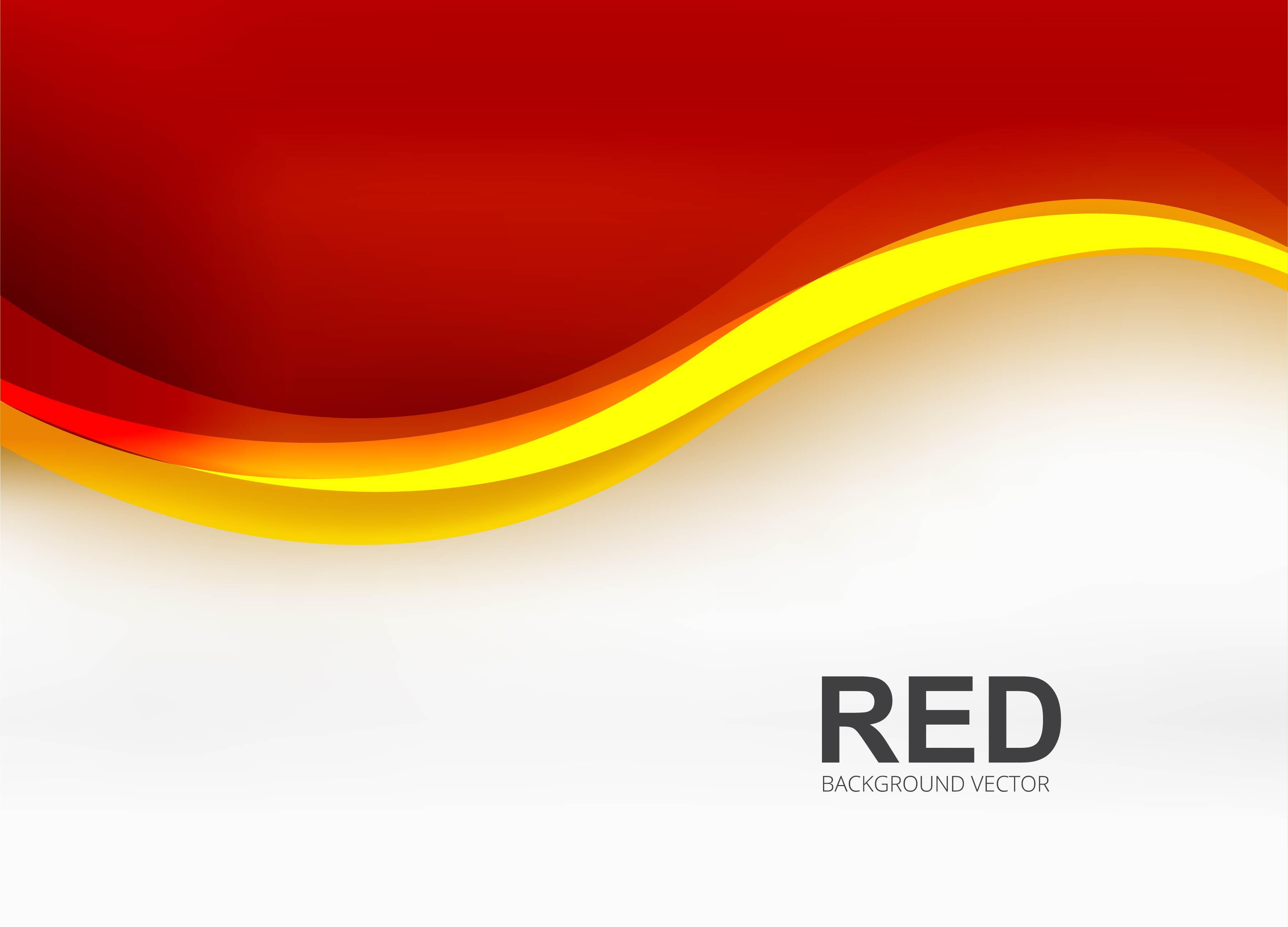 Modern Red Business Wave Background Illustration