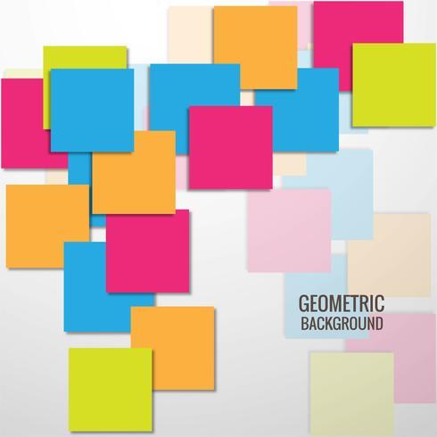 Vecteur de fond abstrait carrés colorés