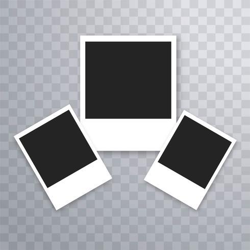 Elegant realistisk fotoram mall vektor