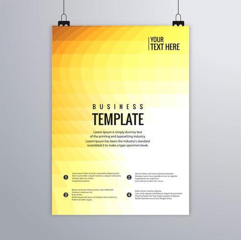 Modèle de brochure pour le buisness coloré mosaïque abstraite