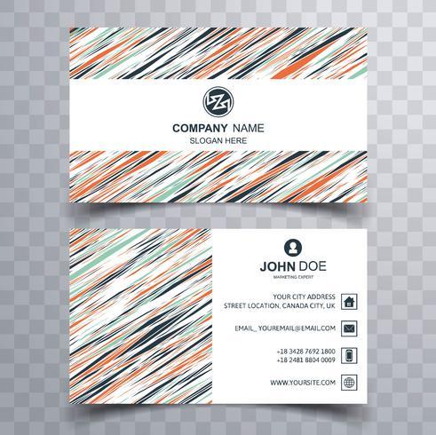 Fond de carte de visite coloré abstrait