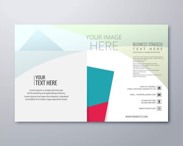 Elegante bedrijf de illustratie vector van de brochuremalplaatje