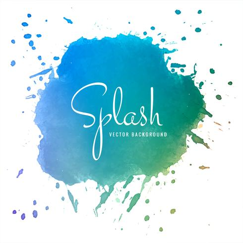 Conception de splash aquarelle colorée abstraite