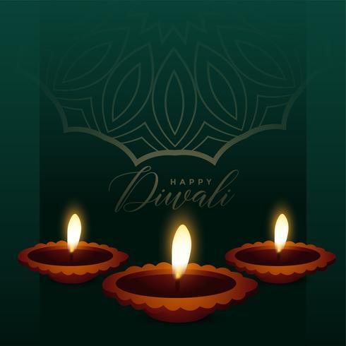 impressionnant fond de diya pour le festival diwali