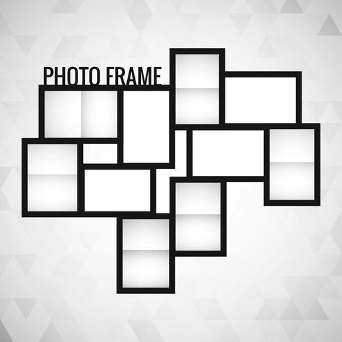 Fotorahmen Vorlage Design Vektor
