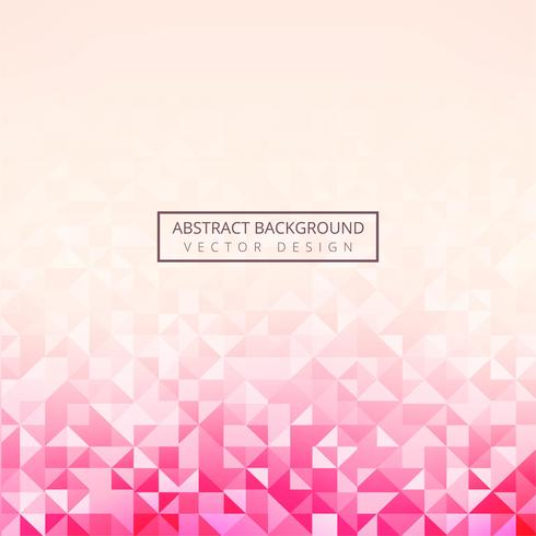 Vector hermoso polígono geométrico fondo rosa